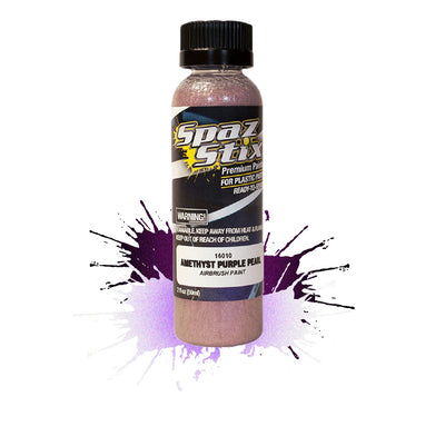 Spaz Stix - Amethyst Purple Pearl Airbrush Ready Paint, 2oz Bottle