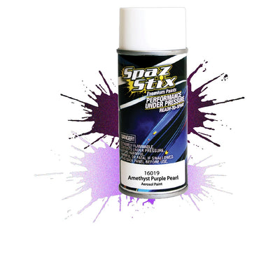 Spaz Stix - Amethyst Purple Pearl Aerosol Paint, 3.5oz Can