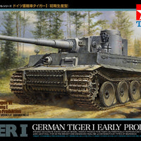 Tamiya - 1/48 German Tiger I Early Prod. Plastic Model Kit