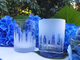 Chicago Skyline Rocks Glass Pair