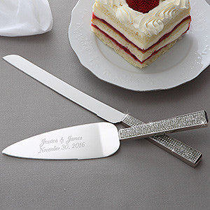 Bling Knife & Server Set - Barone Crystal - 1