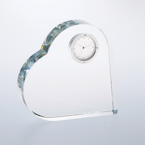 Heart Keepsake Clock - Barone Crystal