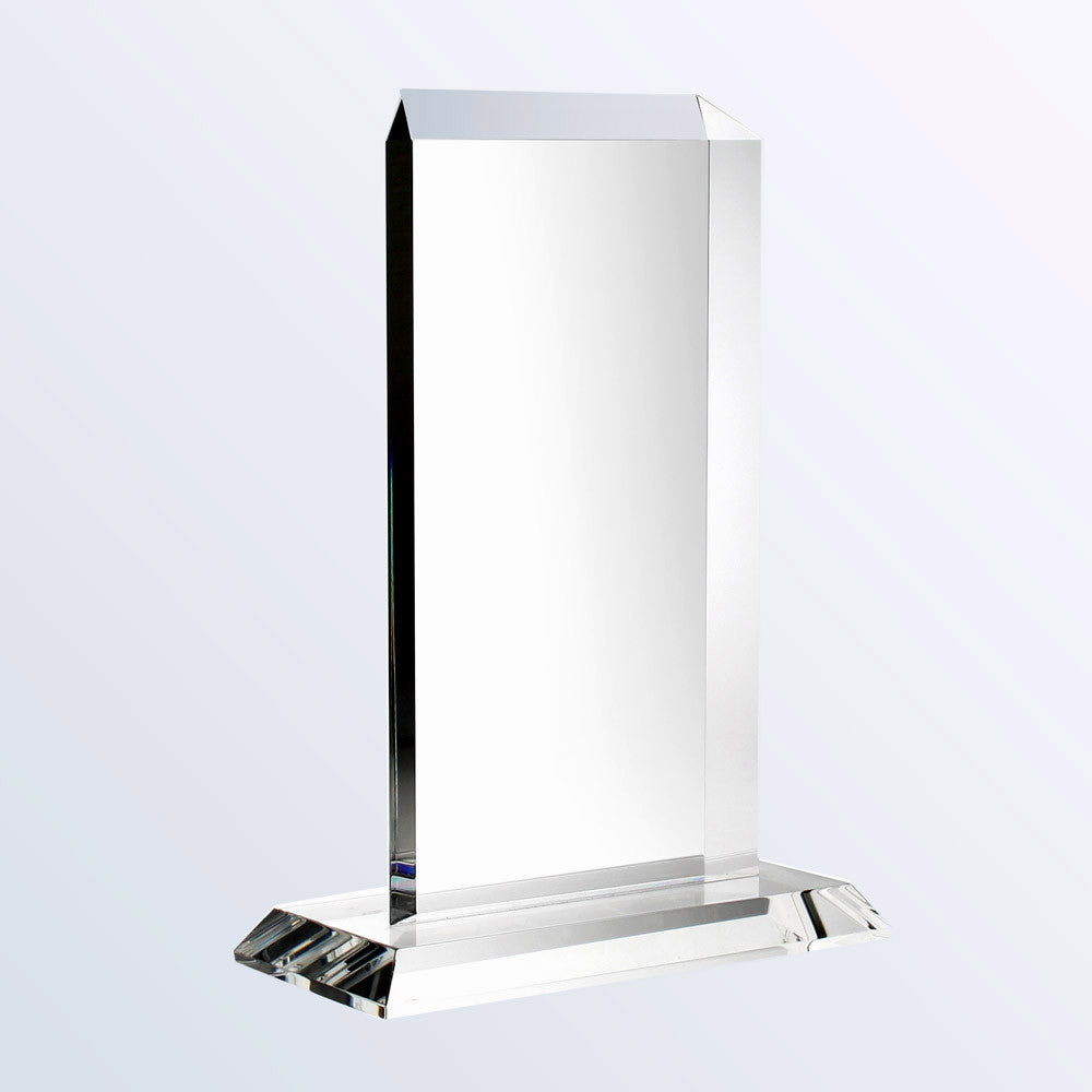 Vertical Rectangle Plaque W/ Base - Barone Crystal