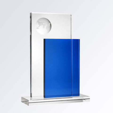 Blue Perception Globe - Barone Crystal