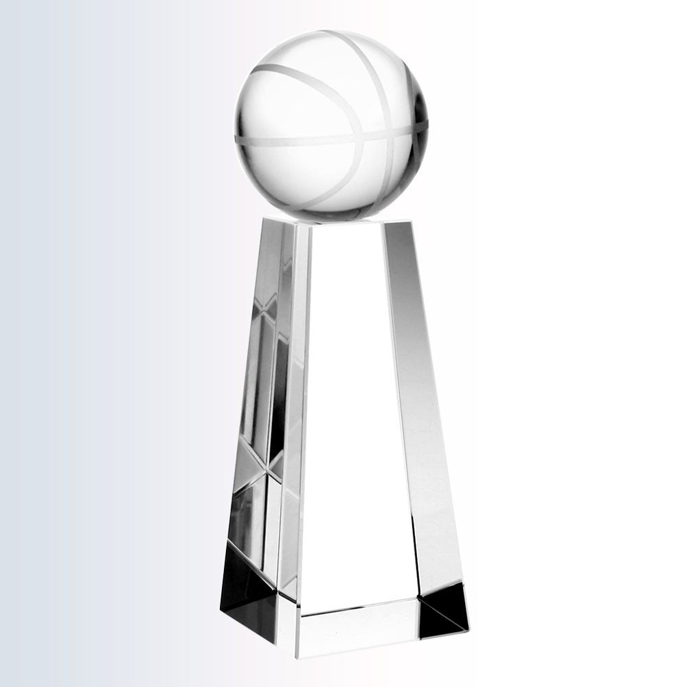 Championship Basketball Trophy - Barone Crystal