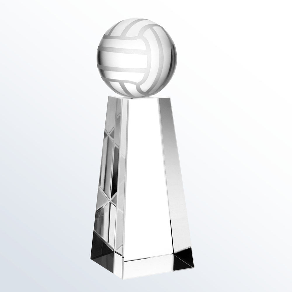Championship Volleyball Trophy - Barone Crystal