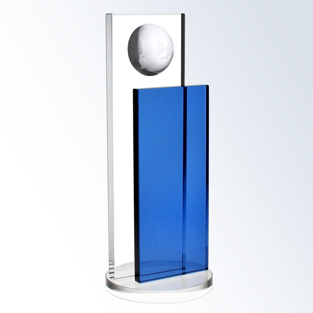 Blue Endeavor Globe - Barone Crystal