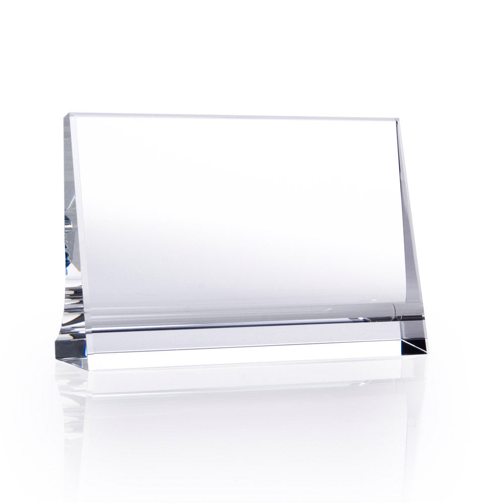 Horizontal Plaque (Curved Back) - Barone Crystal