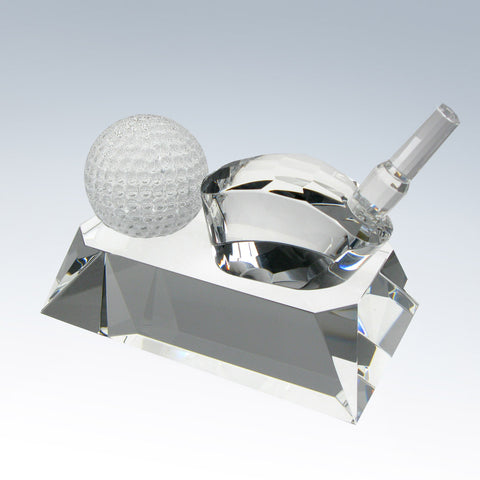 Golf Club w/ Base and Ball - Barone Crystal