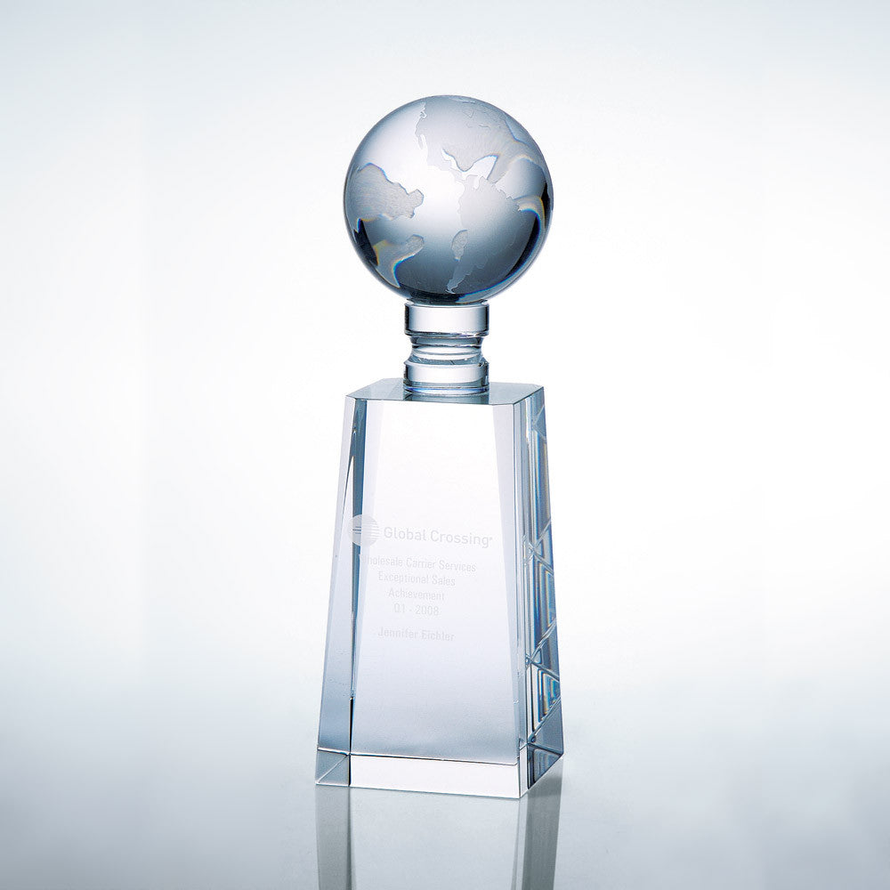 World Globe Award - Barone Crystal
