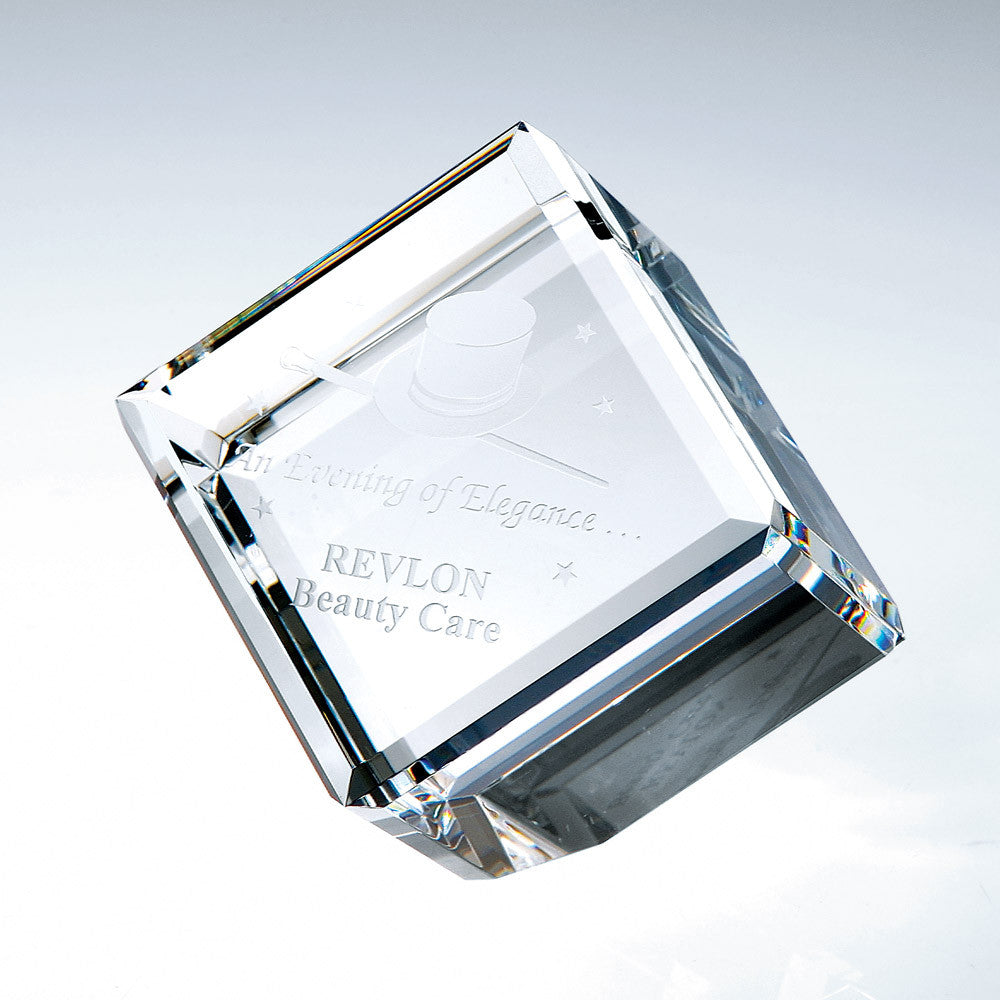 Beveled Diamond Cube - Barone Crystal