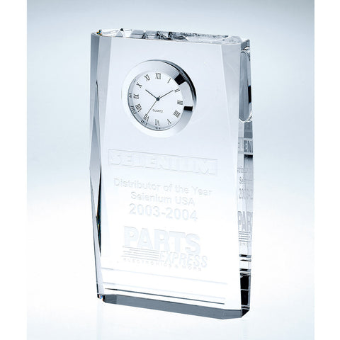 Beveled Plaque Clock - Barone Crystal
