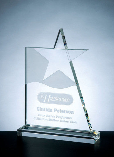 Waving Star Award - Barone Crystal