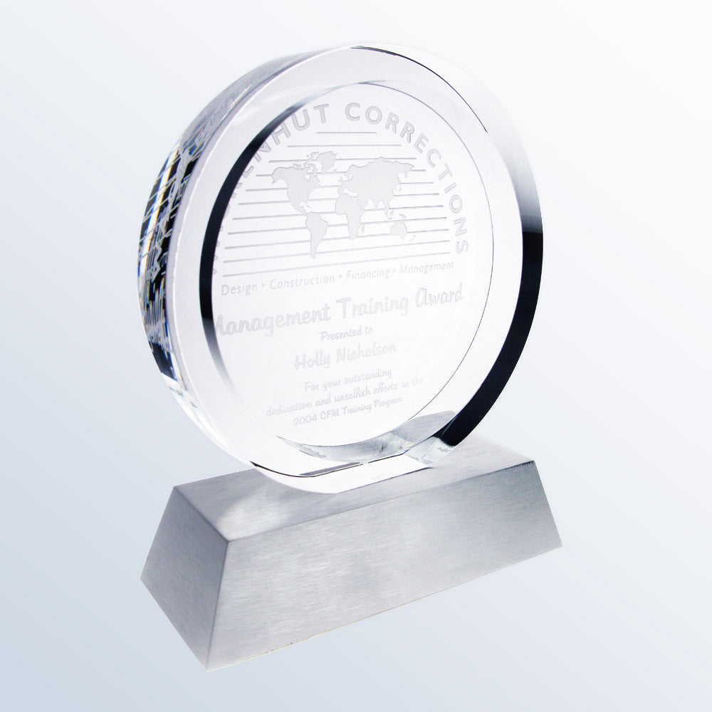 Circular Achievement Award - Barone Crystal