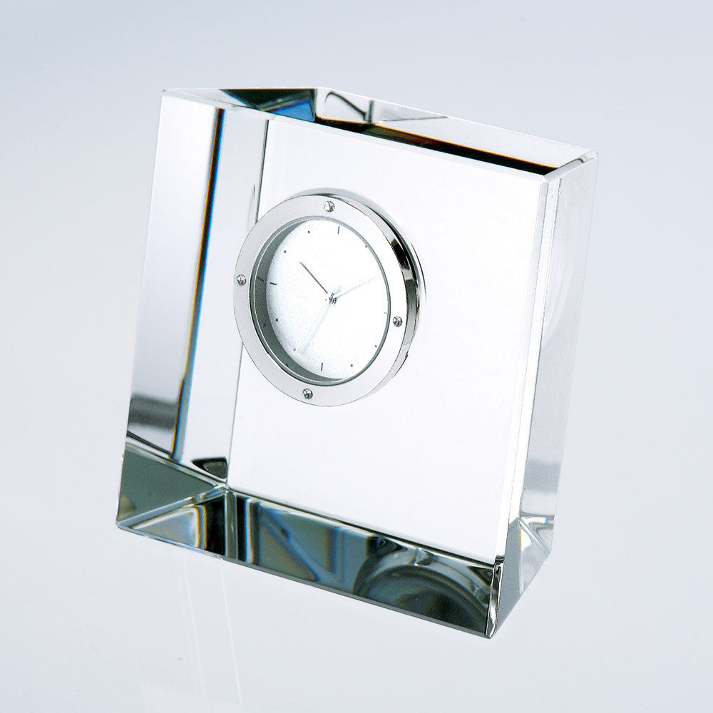 Slanted Block Clock - Barone Crystal