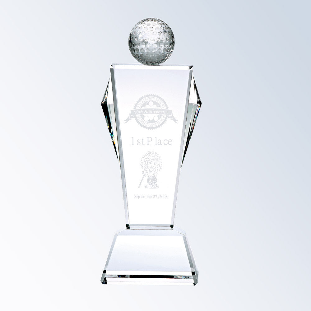 Golf Conqueror Award - Barone Crystal