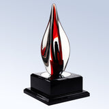 Red Contemporary - Barone Crystal - 2