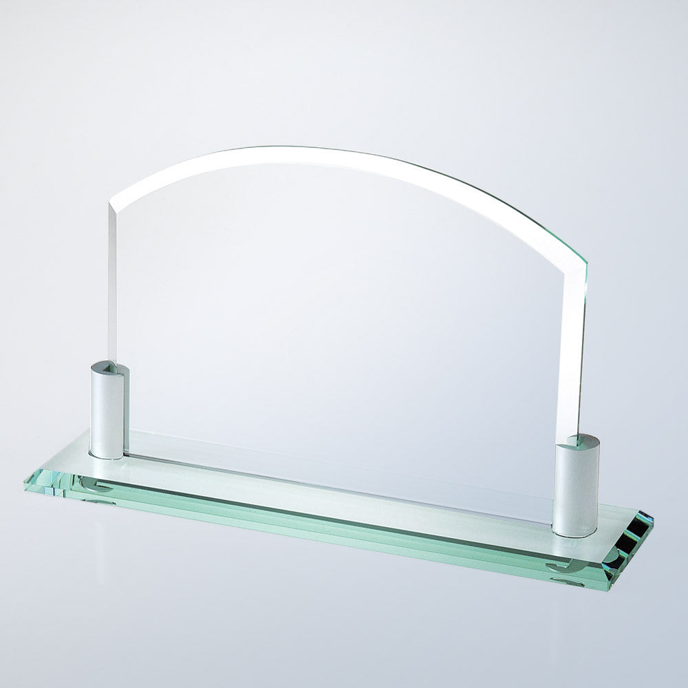 Horizontal Arch W/ Aluminum Holder Base - Barone Crystal
