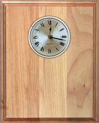 Genuine Red Alder Clock Plaque