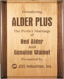 Genuine Red Alder & Genuine Walnut Plaque