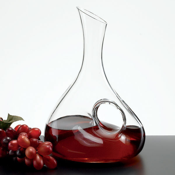 Eternity Handled Red Wine Carafe - Barone Crystal