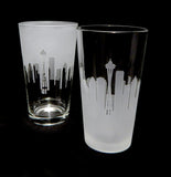 Seattle Skyline Pint Glass Pair - Barone Crystal