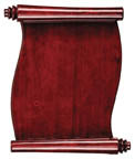 Rosewood Piano Finish Scroll Plaque