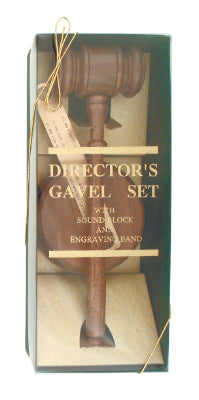 Genuine Walnut Directors Gavel Set