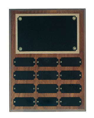 Genuine Walnut Perpetual Plaque