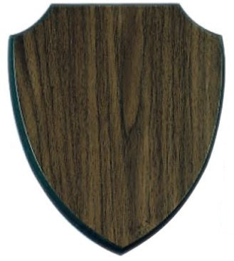 Walnut Finish Shield Plaque
