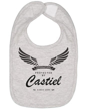 Load image into Gallery viewer, Protected By Castiel Baby Bib - Brain Juice Tees