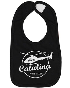 The Catalina Wine Mixer Baby Bib - Brain Juice Tees
