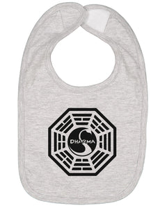Dharma Initiative Swan Station Baby Bib - Brain Juice Tees