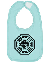 Load image into Gallery viewer, Dharma Initiative Swan Station Baby Bib - Brain Juice Tees