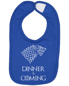Dinner Is Coming Baby Bib - Brain Juice Tees