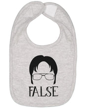 Load image into Gallery viewer, Dwight Schrute False Baby Bib - Brain Juice Tees