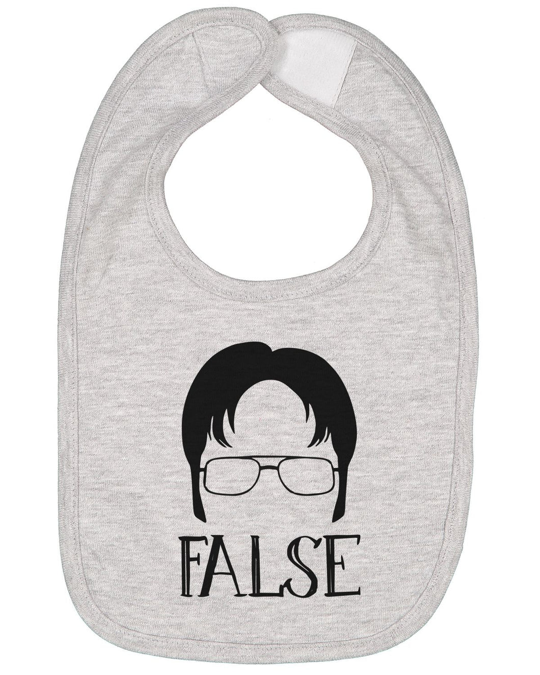 Dwight Schrute False Baby Bib - Brain Juice Tees
