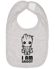 Load image into Gallery viewer, I Am Groot Baby Bib - Brain Juice Tees
