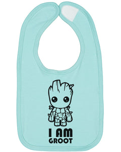 I Am Groot Baby Bib - Brain Juice Tees