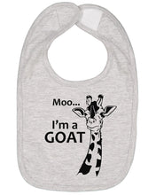 Load image into Gallery viewer, Moo I'm A Goat Baby Bib - Brain Juice Tees