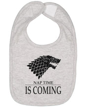 Load image into Gallery viewer, Nap Time Is Coming Baby Bib - Brain Juice Tees