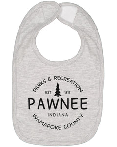 Pawnee Parks And Recreation Baby Bib - Brain Juice Tees