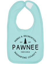 Load image into Gallery viewer, Pawnee Parks And Recreation Baby Bib - Brain Juice Tees