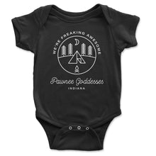 Load image into Gallery viewer, Pawnee Goddesses Baby Onesie - Brain Juice Tees