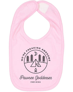 Pawnee Goddesses Baby Bib - Brain Juice Tees
