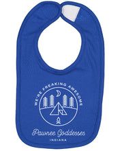 Load image into Gallery viewer, Pawnee Goddesses Baby Bib - Brain Juice Tees