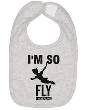 Load image into Gallery viewer, I'm So Fly I Neverland Baby Bib - Brain Juice Tees