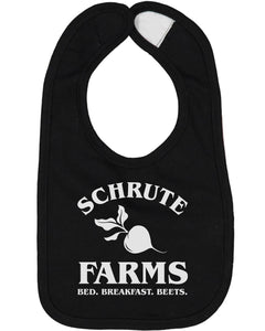 Schrute Farms Bed And Breakfast Baby Bib - Brain Juice Tees
