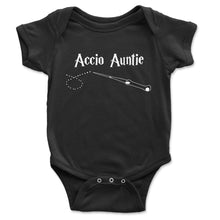 Load image into Gallery viewer, Accio Auntie Baby Onesie - Brain Juice Tees
