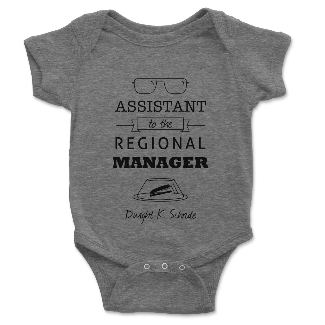 Assistant To The Regional Manager Baby Onesie - Brain Juice Tees
